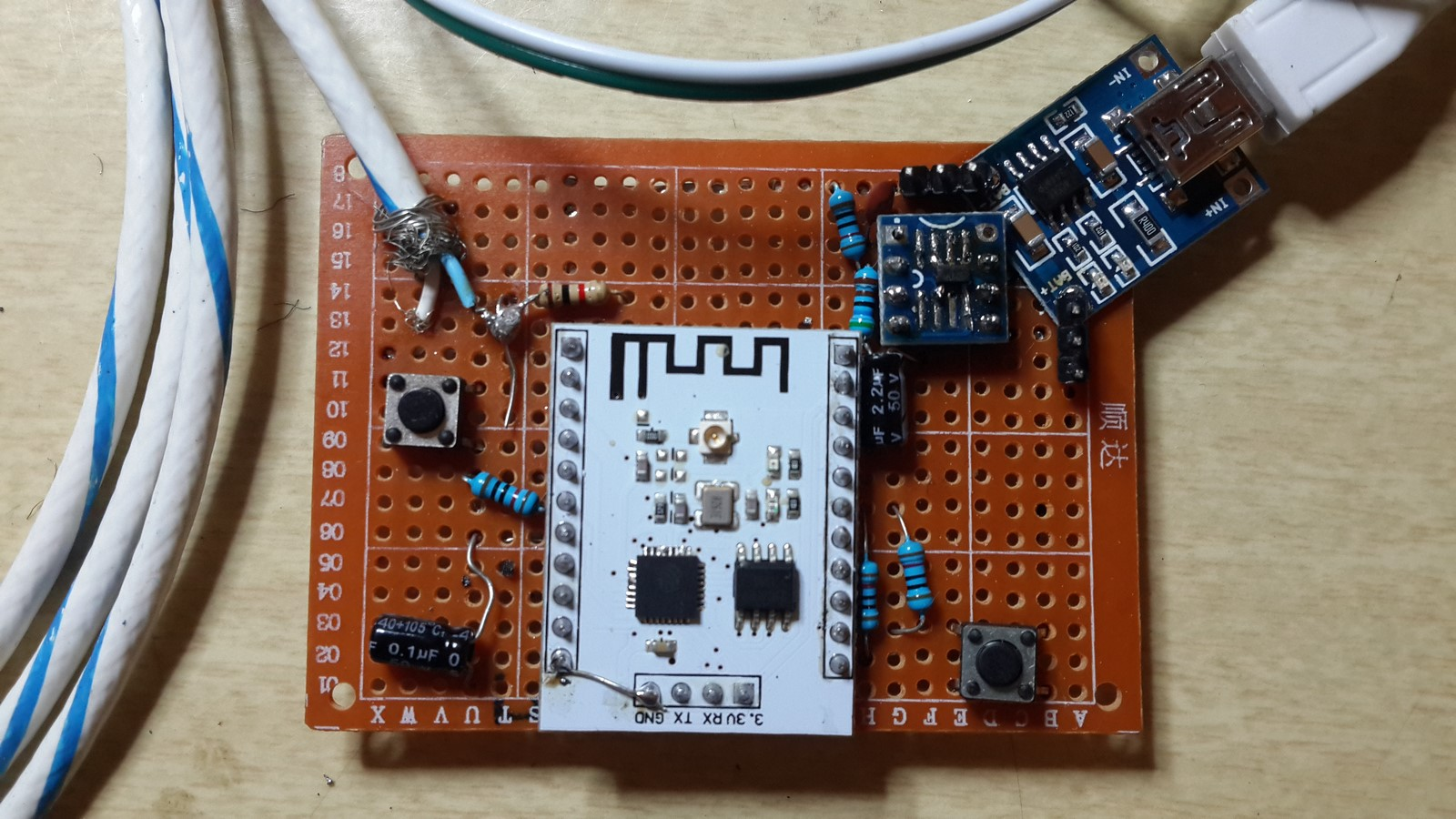 Do I Have Hot Water? Solar Powered ESP8266 With a Thermistor