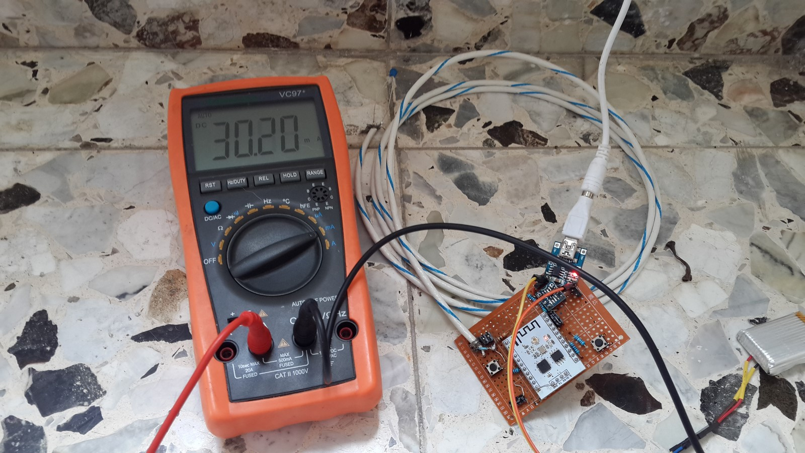 Solar power ESP8266 charging battery clouds