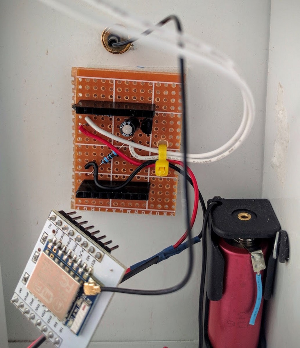 Esp 8266 Mailbox Notifier Using Deepsleep And Blynk Timer 555 Circuit That Way If I Need To Re Flash Or Access Them Theyre Easy Pop Out Mounting On Headers Also Allows Me Place Electronics Below The Board