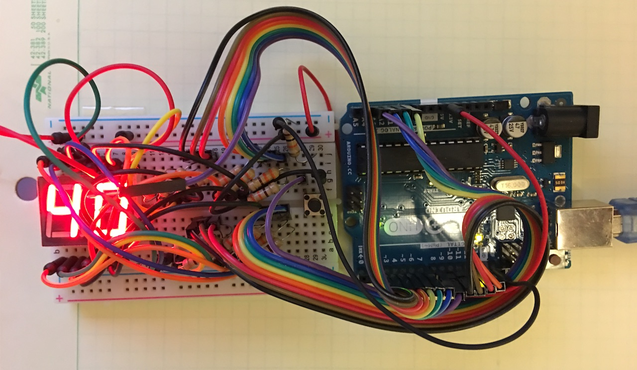 Using A 7 Segment Display In Countdown Timer Digital Count Down Circuit Pic Microcontroller