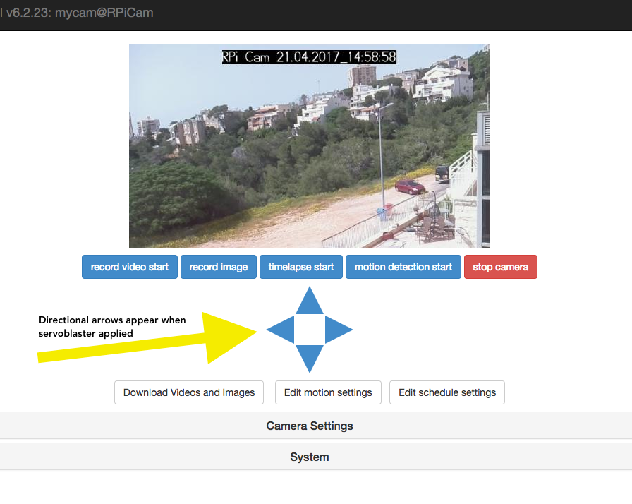 RasPi Webcam with Pan & Tilt