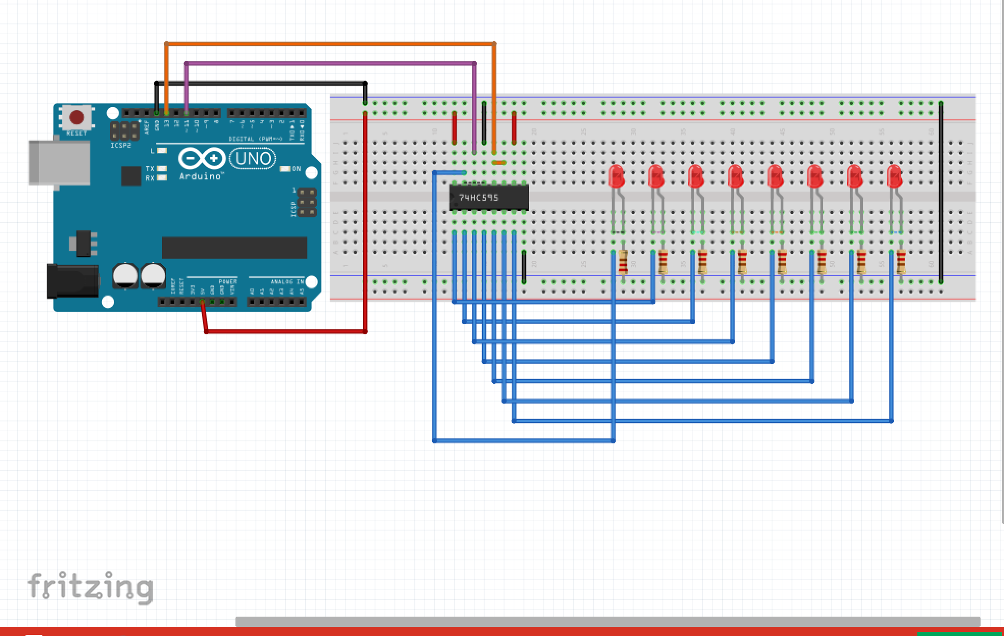 Pcb From Concept To Design Fabrication And Testing Using Fritzing Shift Register Breadboard Circuit