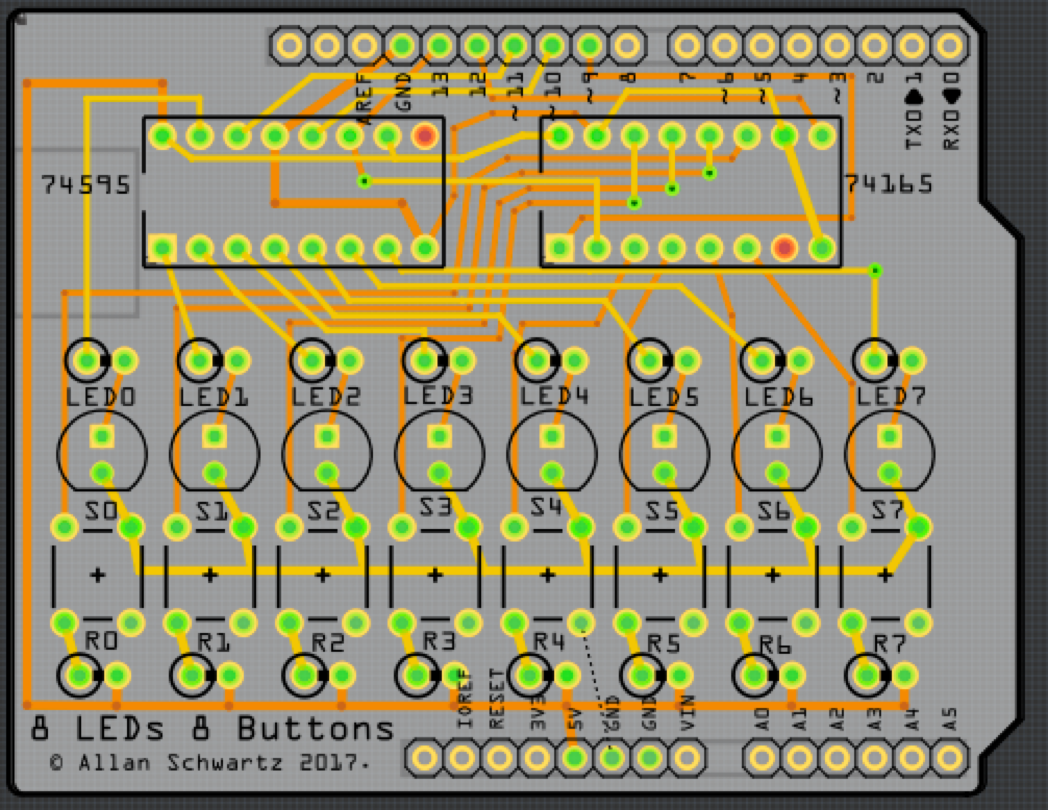 Pcb From Concept To Design Fabrication And Testing Using Fritzing Finally Here Are My Perfboard Layouts Some Pictures There Is One Error On The Board Indicated By Dashed Line Between Gnd Of Legs A Switch It Turns Out I Omitted Ground Signal