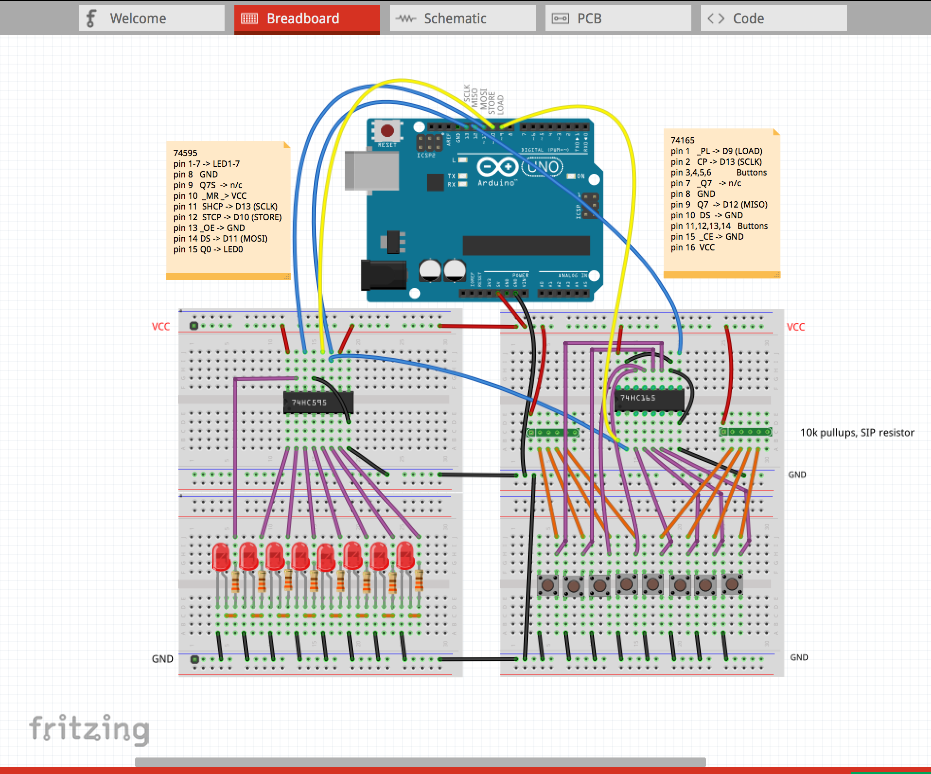 PCB: from Concept to design to fabrication and testing using