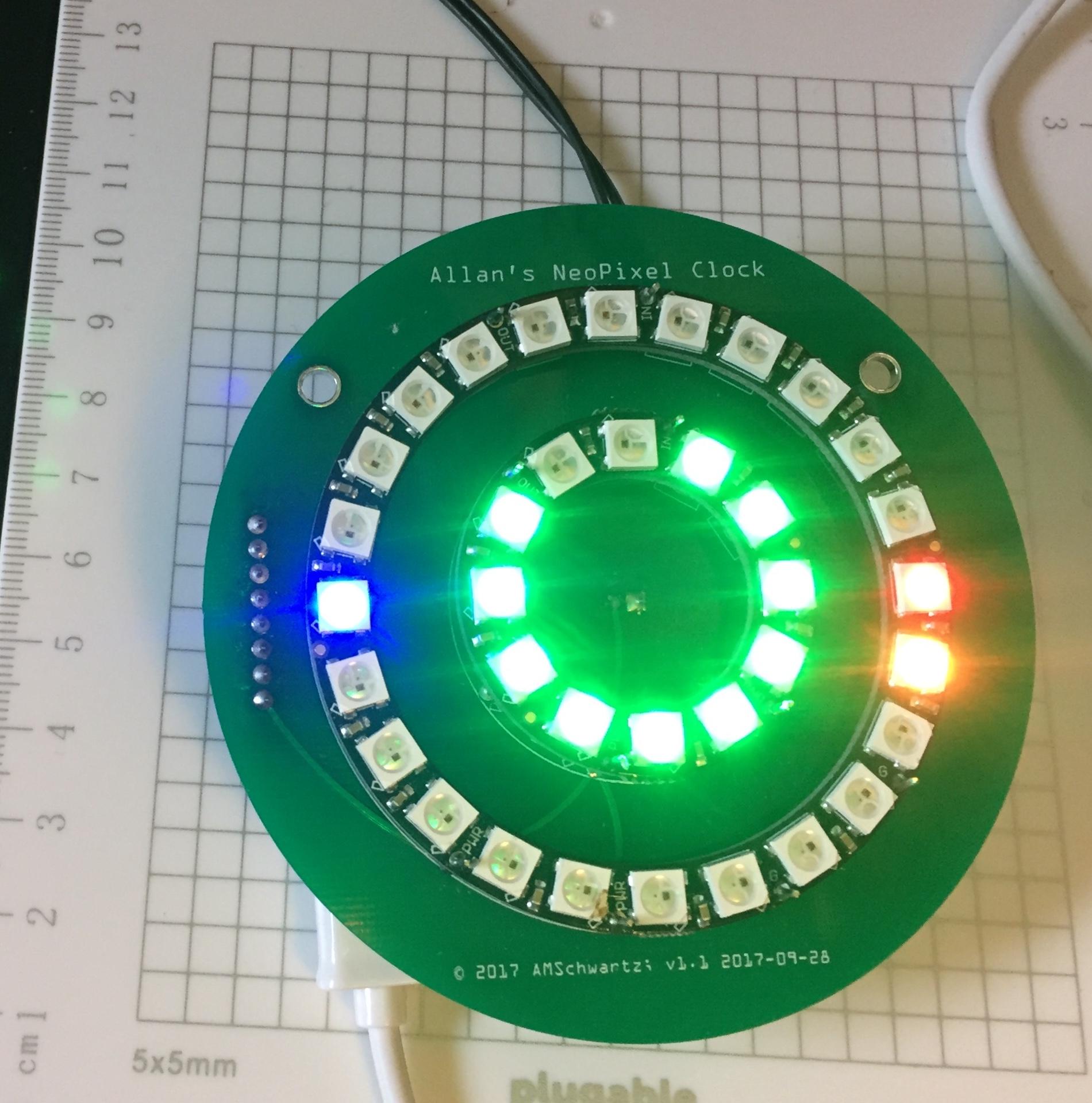 Desktop NeoPixel Clock